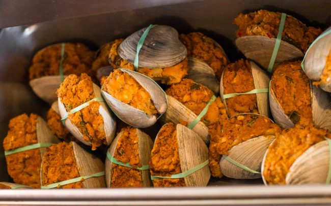 Flo's Clam Shack, seafood, restaurant, Rhode Island, seafood restaurant, Stuffed Quahogs, quahogs